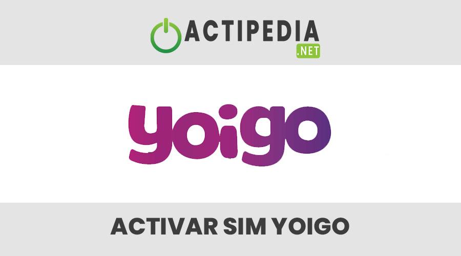 Activar SIM Yoigo